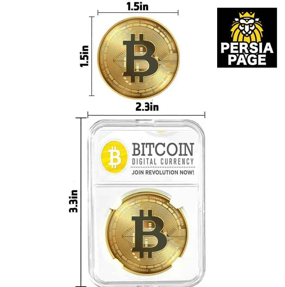 Cryptochips | Bitcoin 2021 Edition (BTC) Physical Crypto Coin | Collectable Cryptocurrency